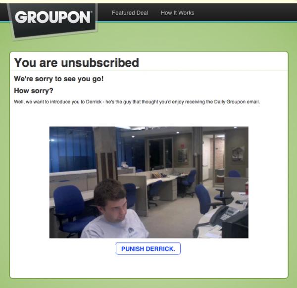 Groupon pagina de baja 2010