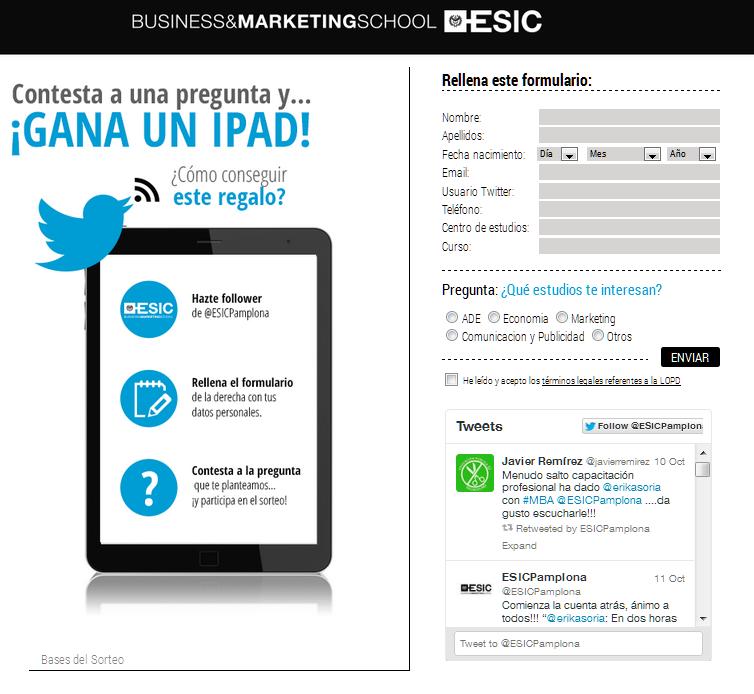 Landing Page ESIC MarketiNet