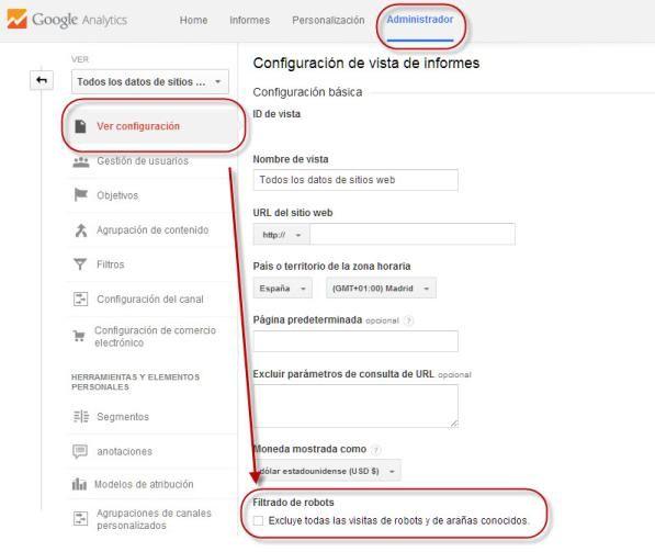 Google Analytics bot trafico real