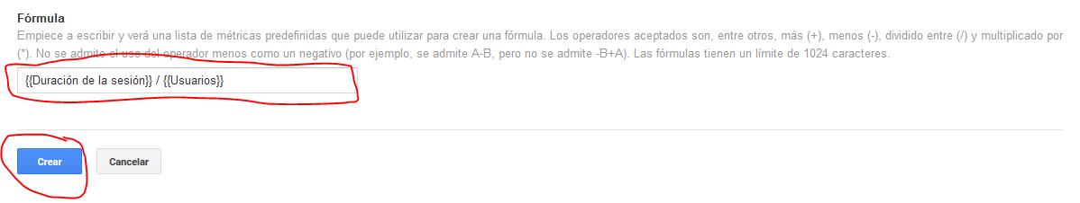 configurar formula