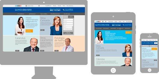 Proyecto Clínica Baviera - Site corporativo responsive