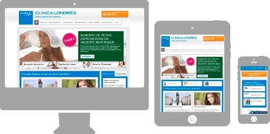 Clínica Londres Web responsive