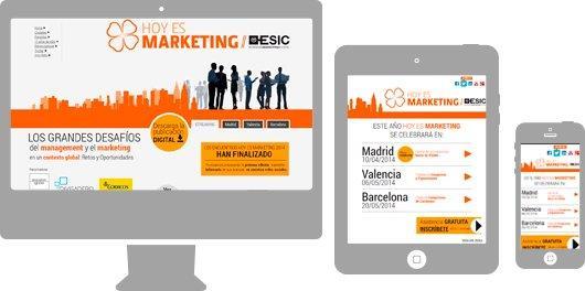 Hoy es marketing Web responsive