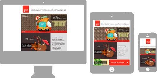 Campañas de Emailing en responsive para sector industria. Formica Group