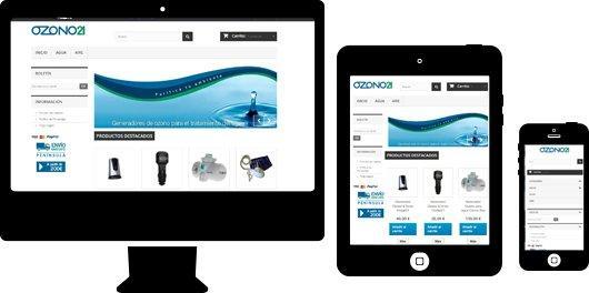 Tienda online en Prestashop para sector ecommerce. Ozono 21