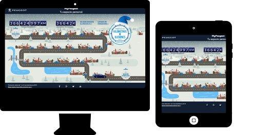 Desarrollo  web  para sector automoción. Peugeot