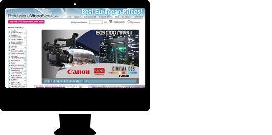 Tienda online a medida para sector audiovisual. Video Store