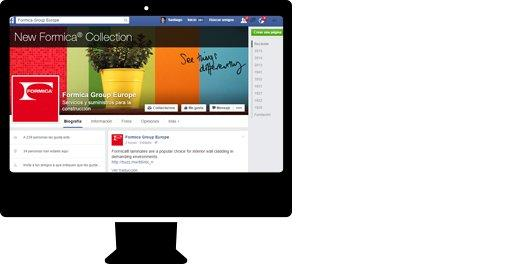 Gestión de redes sociales  para sector industria. Formica Group
