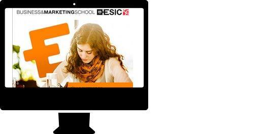 Campaña email  para sector educación. Carrera TSDMC ESIC