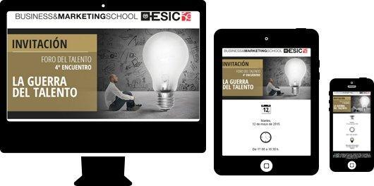 Campaña Email Marketing para sector educación. Foro del Talento ESIC
