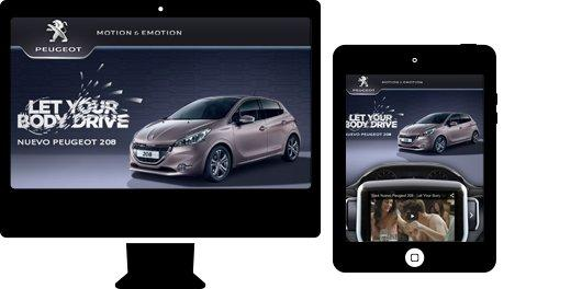 Desarrollo de aplicación web para sector automoción. Peugeot