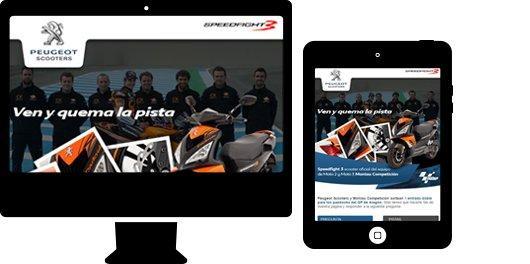Proyecto Peugeot Scooters - Aplicación sorteo peugeot motos