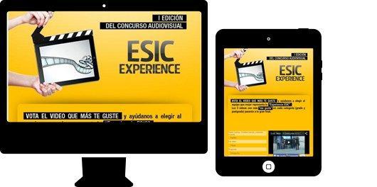 Aplicación  web para sector educación. ESIC