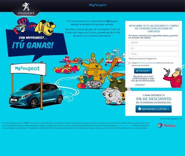 Microsite de captación - Peugeot