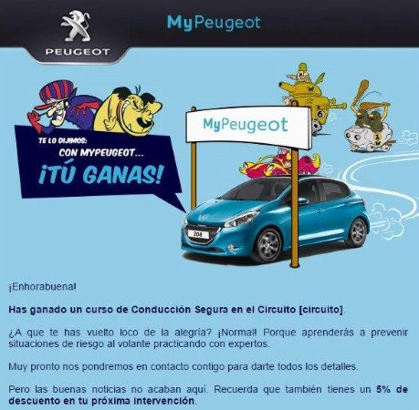 Mail Responsive Peugeot