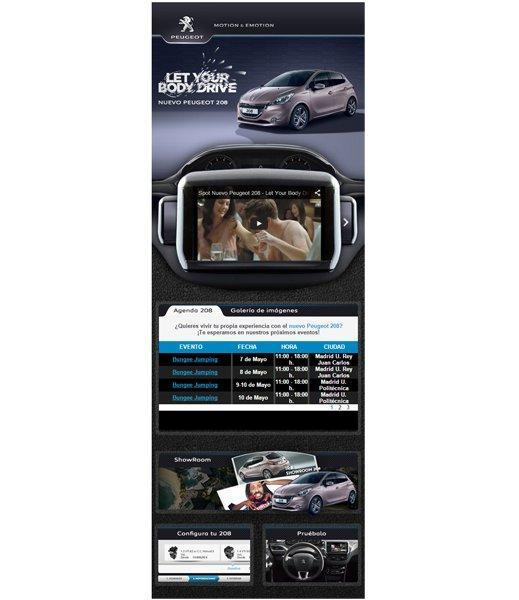 Aplicación Nuevo Peugeot 208