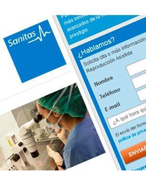Microsite de captación para Sanitas