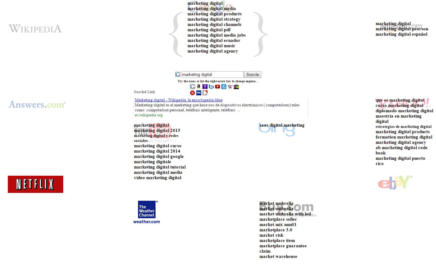 herramienta soovle para encontrar palabras claves