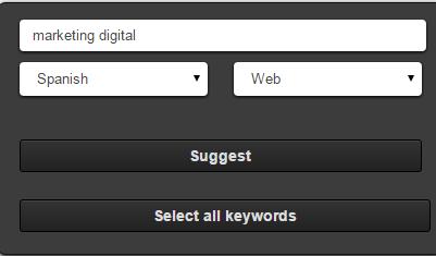 herramienta ubersuggest para encontrar palabras claves