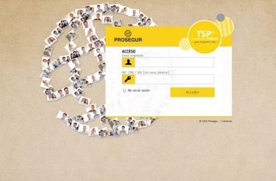 diseño web con uso de amarillo para prosegur
