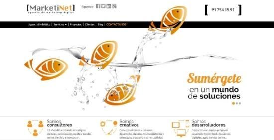 diseño web marketinet con color naranja
