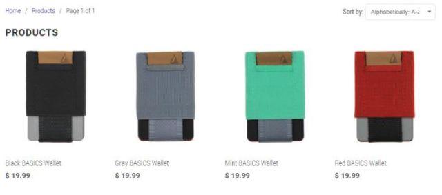 ejemplo ecommerce Basic Wallet