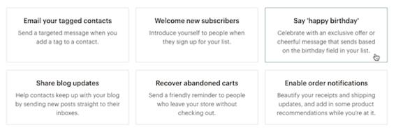 Fidelización de clientes con Mailchimp