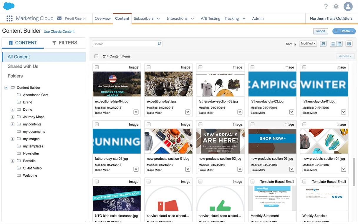 Content Builder de Marketing Cloud