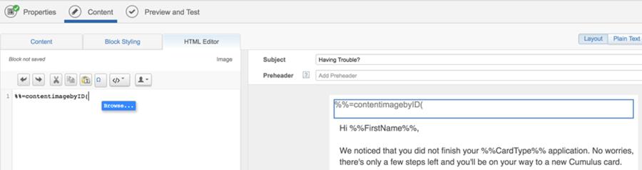 Fragmentos de código con Marketing Cloud