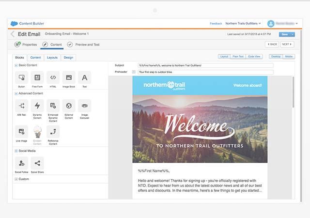 Content Builder de Salesforce Marketing Cloud