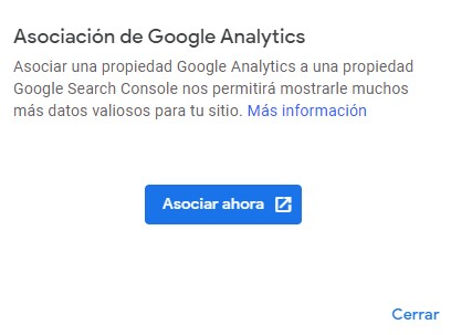 Asociar Search console y Google Analytics