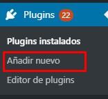 Añadir nuevo plugin en WordPress