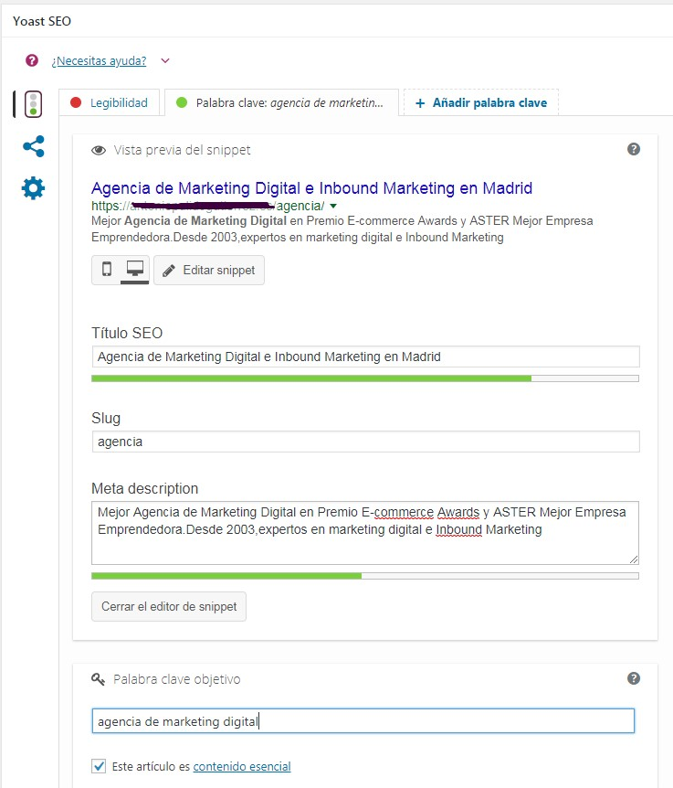 Optimizacion Yoast SEO