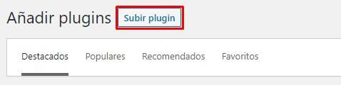 Subir plugin en WordPress