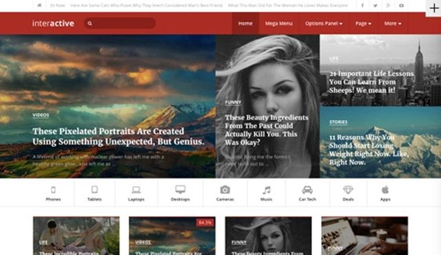 Tema WordPress Interactive