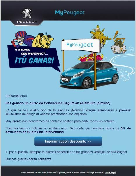 email peugeot