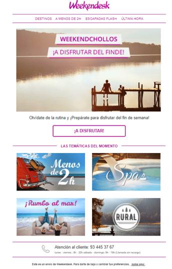 Ejemplo de campaña de email marketing