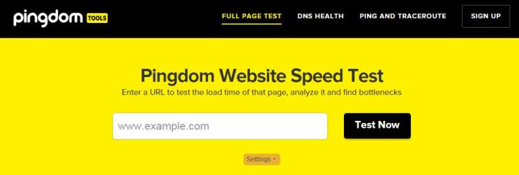 herramienta pingdom website speed test