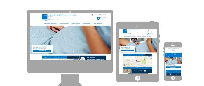 Sanitas desarrollo web for Oficinas sanitas barcelona