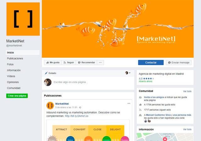 Página de Facebook de