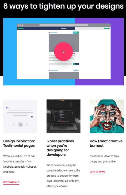 Newsletter de Invision