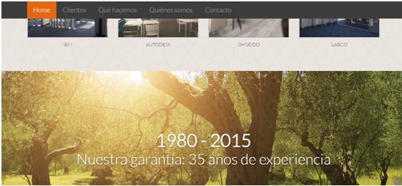 diseño web parallax