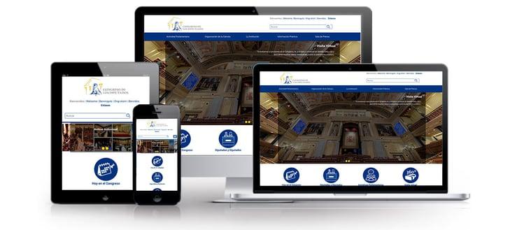 Web multidispositivo Congreso de los diputados