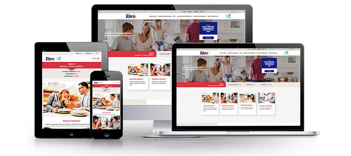 Web multidispositivo Ebro Foods