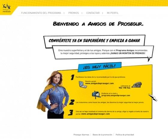 Desarrollo web de Amigos de Prosegur