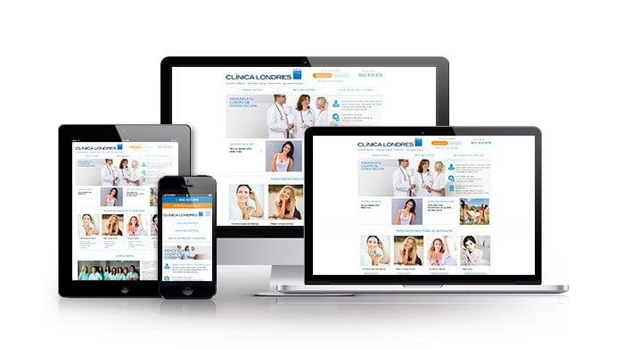 Desarrollo web responsive para sector salud. Clinica Londres