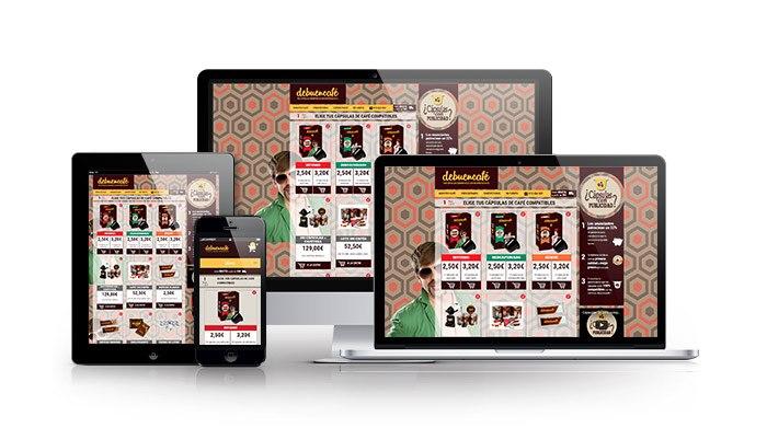 Desarrollo de tienda online para sector alimentario. De Buen Café