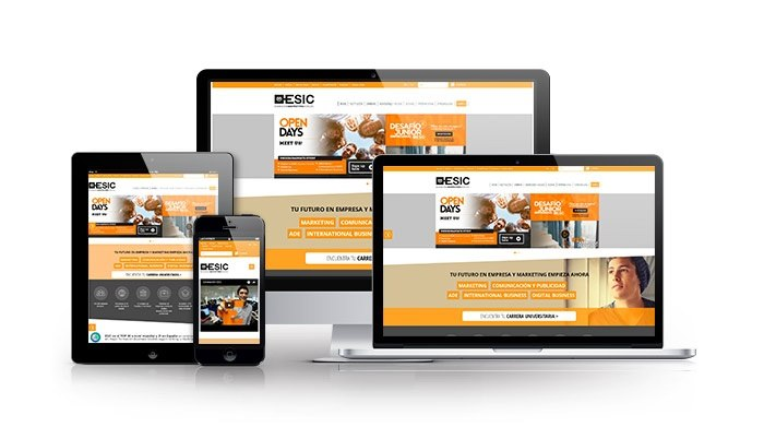 Desarrollo web para sector eduación. ESIC
