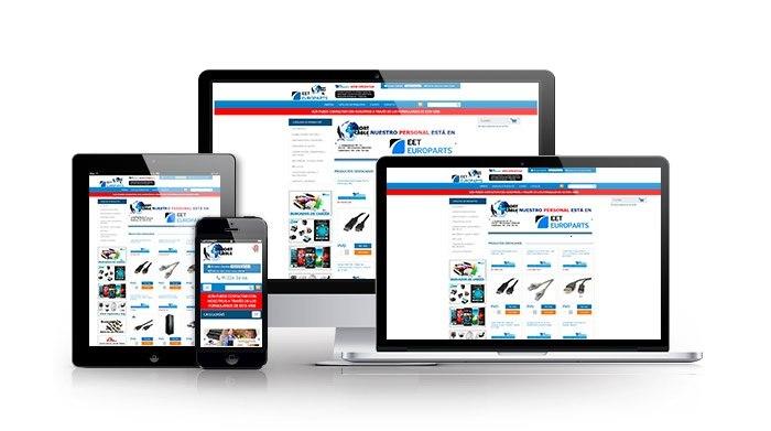Desarrollo de tienda online para sector comercio. Importcable