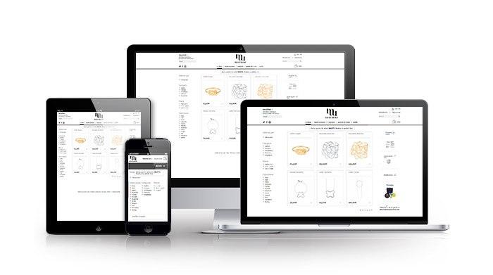 Desarrollo de tienda online para sector joyería. Murmur